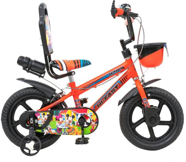 Hi-Fast kids Cycle For Boys & Girls with Training Wheels (Semi Assembled) 14 T BMX Cycle