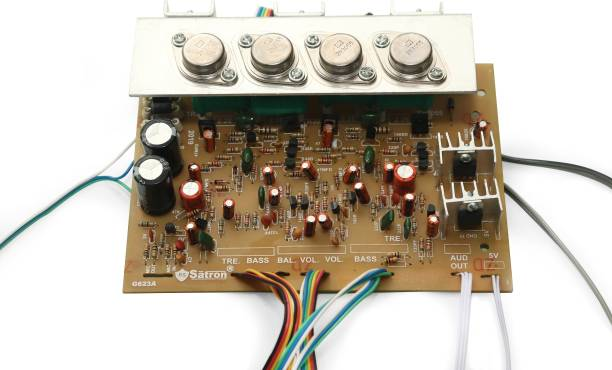 Electronicspices 3055 Transistor Power USB Amplifier Board 260 watt With Potentiometer Electronic Components Electronic Hobby Kit