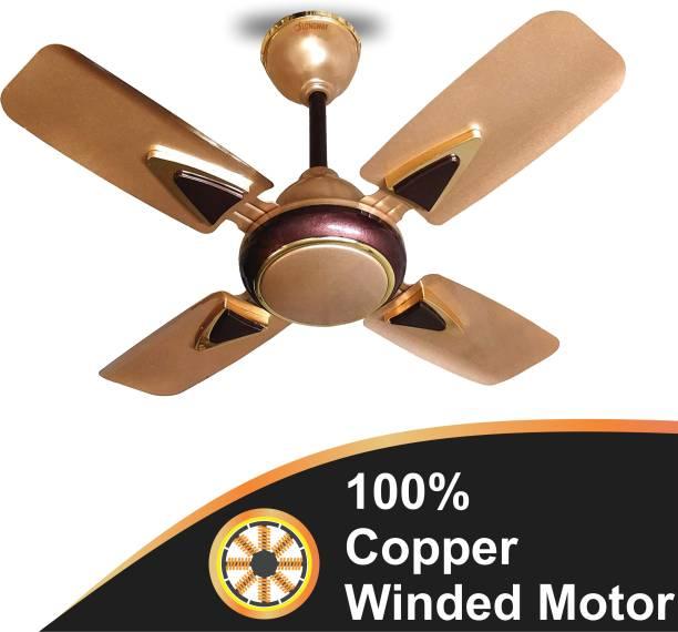 "LONGWAY STARLITE-1 GOLDEN BEIGE 24"" 600 mm Ultra High Speed 4 Blade Ceiling Fan"