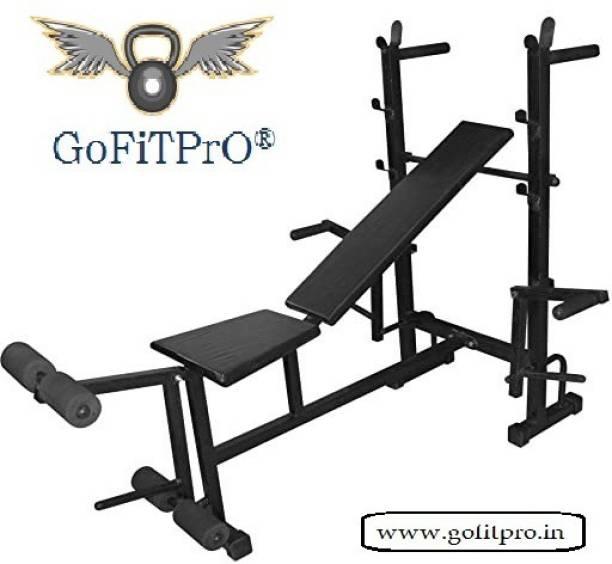 GoFiTPrO GoFiTPrO Single Support 8 in 1 Bench Black Multipurpose Fitness Bench