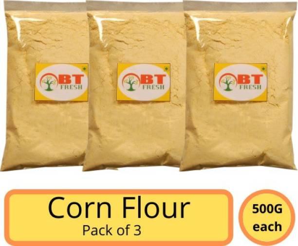 BT Fresh Best Quality Corn Flour / Makka Atta 500g Pack of 3 (1500 g, Pack of 3)