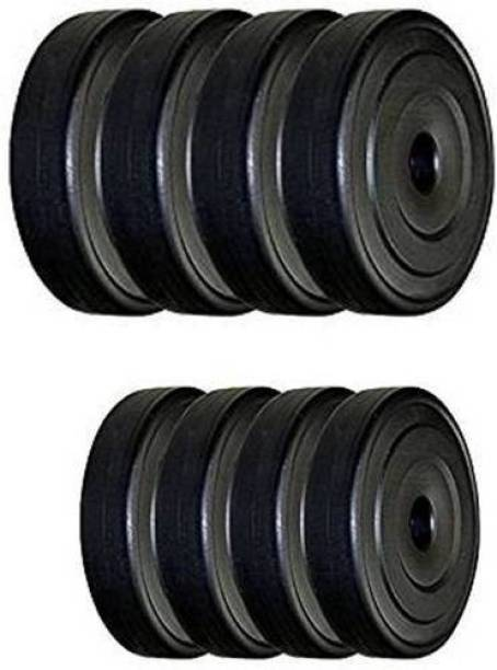 Keyways 8 KG PVC PLATES IN - BOX 2 KG X 4 PC = 8 KG ( BLACK ) Black Weight Plate