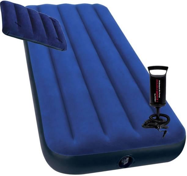 INTEX PVC (Polyvinyl Chloride) 1 Seater Inflatable Sofa