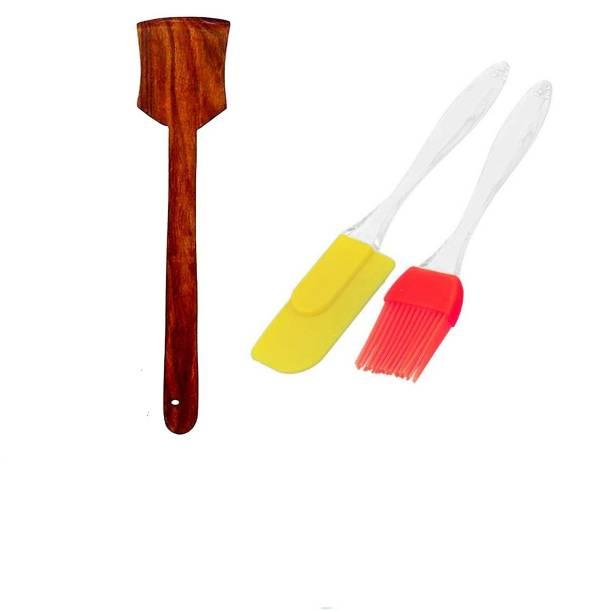 Flipkart SmartBuy BAKIN-TOOL-007 Wooden non-stick Spatula Set for Cooking (pack of 3) WOOD Kitchen Tool Set