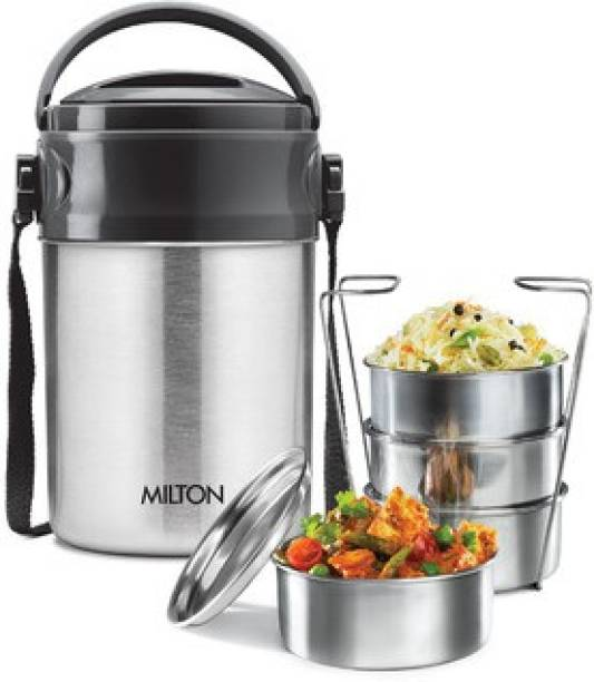 MILTON steel on 4 thermosteel tiffin 4 Containers Lunch Box