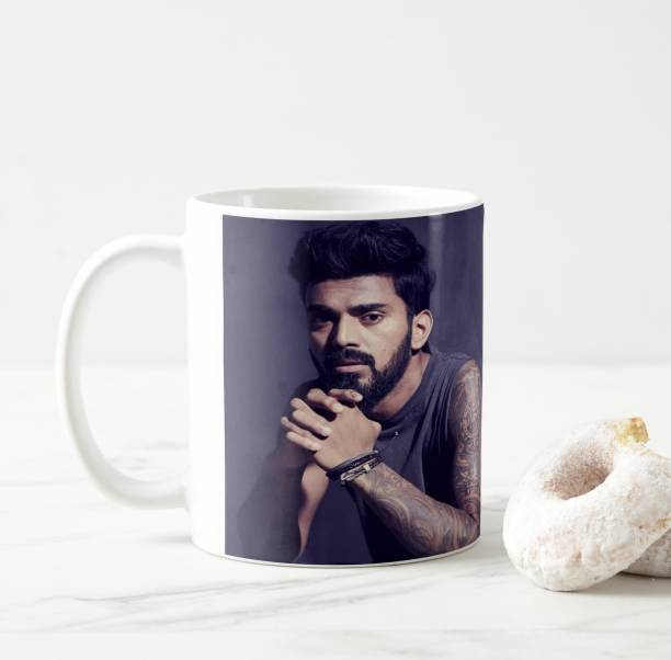 """V Kraft """"kings 11 punjab starl KL RAHUL faishnable look"""" quote white Ceramic with Handle-Perfect Gift to Anyone On Any Occasion 
