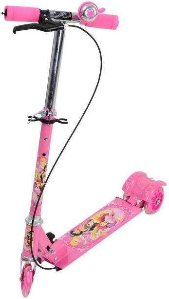 ANJANIPUTRA ENTERPRISE Kids 3 Wheel Foldable Scooter Cycle with Height Adjustment & Led Light on Wheel(Break and Bell) for Boys and Girls - (Multicolor)