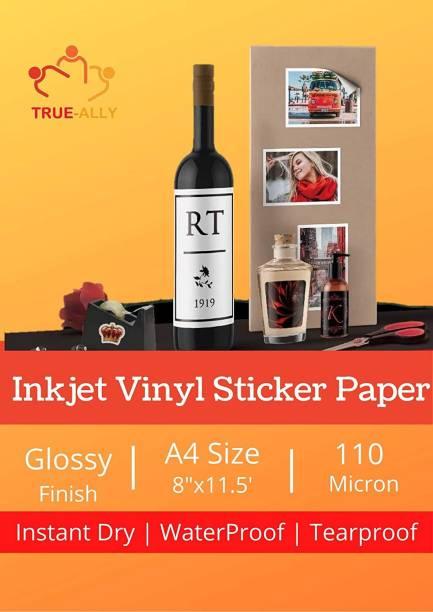 True-Ally Vinyl Glossy Unruled A4 110 gsm Inkjet Paper