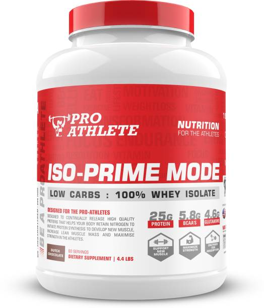 ProAthlete ISO-PRIME MODE: Zero Carbs 100% Whey Protein Isolate Natural Muscle Builder Whey Protein