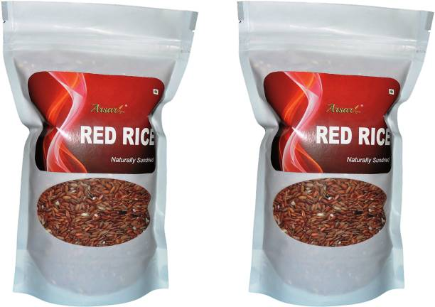 arsar agro Organically Grown Boiled Red Rice, 2kg Red Boiled Rice (Medium Grain, Raw)