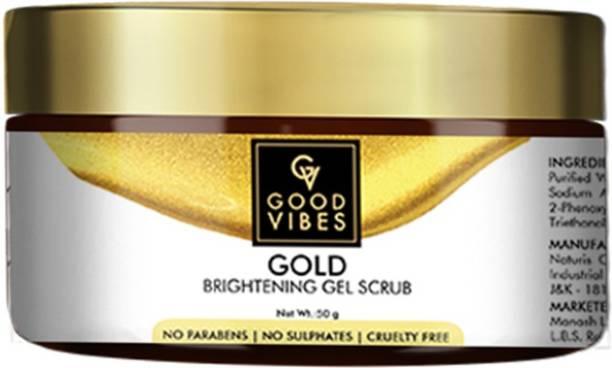 GOOD VIBES Gold Brightening Gel  Scrub