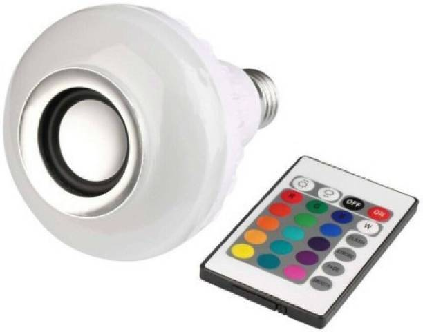 CKT Bluetooth Multi Color RBG Led Music Light Bulb For Party Home Decoration And Night Light WIth 7W RBG LED and 5 W bluetooth Sterio Speaker For Home Party Decoration, Birthday Celibration Night Light Smart Bulb