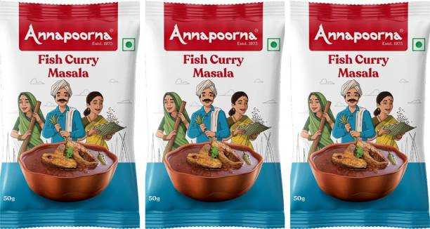 Annapoorna Fish Curry Masala 50gms pack of 3