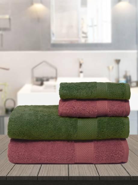 TRIDENT Cotton 460 GSM Bath Towel Set