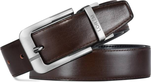 LOREM Boys Evening, Party, Formal, Casual Black, Brown Artificial Leather Reversible Belt