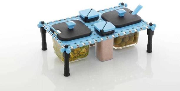 Avsar Khatli Style 4 Bottles Multipurpose Spice Rack Jars & Containers/Khatli Set Spice Rack Jars(Multicolor)  - 300 Plastic Grocery Container