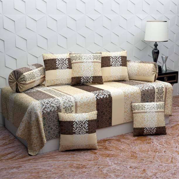 Home majestic Polycotton Checkered Diwan Set