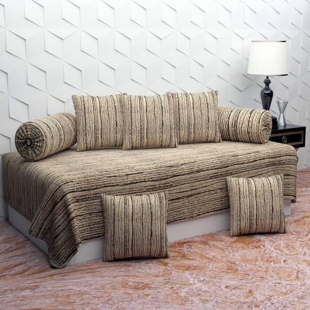Home majestic Polycotton Striped Diwan Set