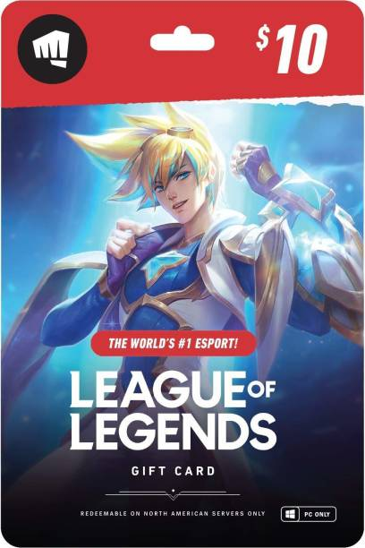 League of Legends $10 Gift Card - NA Server Only for PC