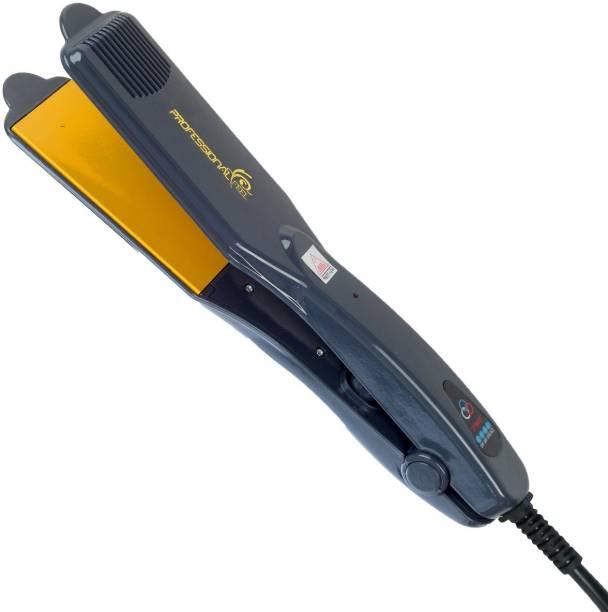 PROFESSIONAL FEEL Ultra Shine Hair Straightener, Kerashine Hair Straightener With Keratin Ceramic Coating Gold Chrome Plates Hair Straightener