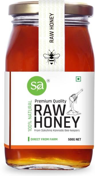 SAVAYAV Raw Honey 500g - Unprocessed Unfiltered Pure Organic & Natural Multi Flora Honey From Dakshina Kannada Beekeepers