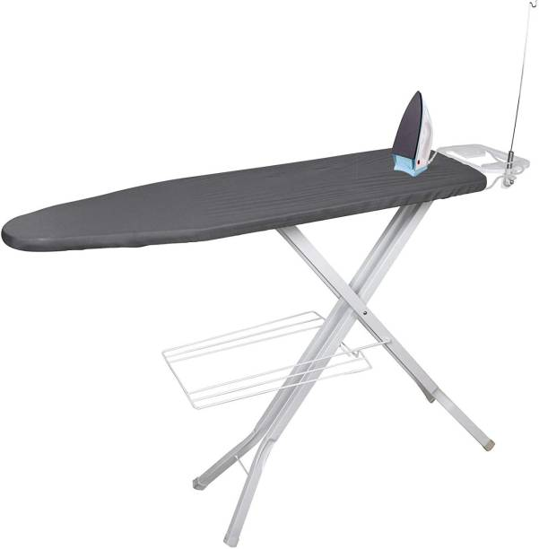 Plantex Extra Wide Adjustable Height Ironing Stand/Folding Ironing Board with Steam Iron Rest - Grey Ironing Board