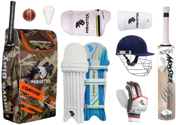 Monster CAMOFLAGE Full Size ( Ideal for 15-21 Years ) Complete Cricket Kit