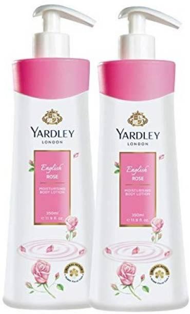 YARDLEY Rose Lotion 350 Ml 2 Pcs
