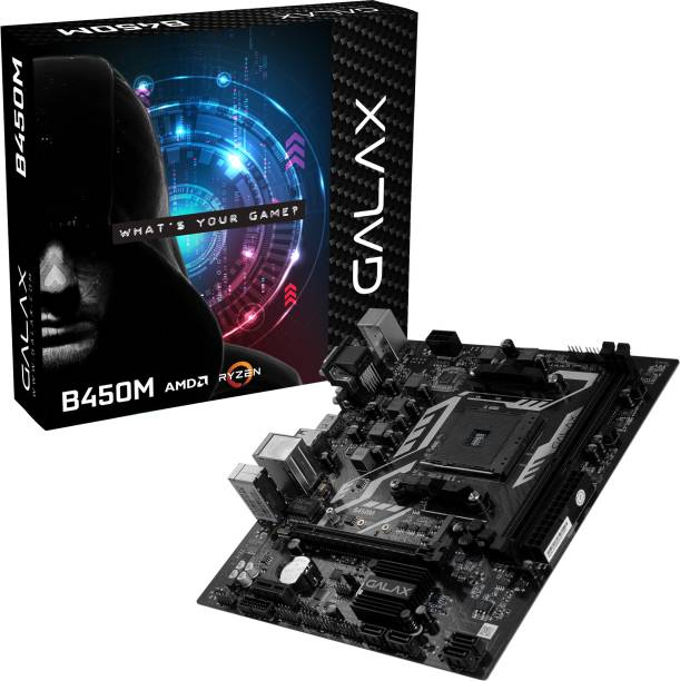 GALAX B450M AMD AM4 PCIe 3.0 DDR4 mATX Motherboard with M.2 USB 3.1 Gen1 DVI-D and SATA III 6Gbps Motherboard