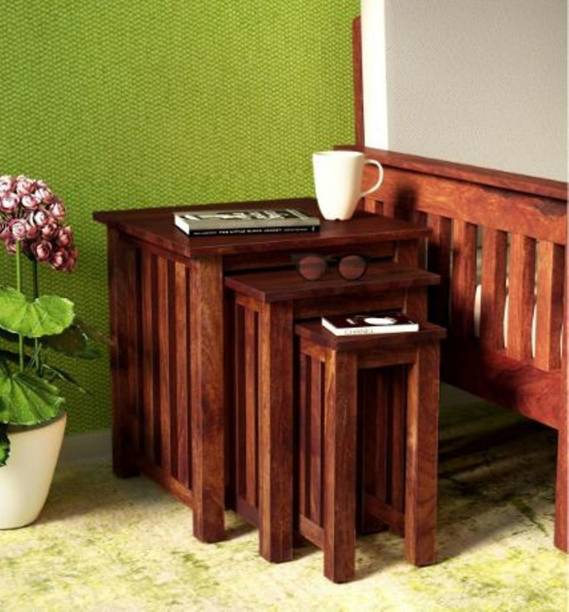 Wood Mania Solid Wood Nesting Table
