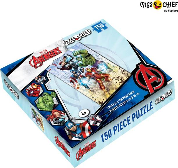Miss & Chief 150 Piece Puzzle Avengers