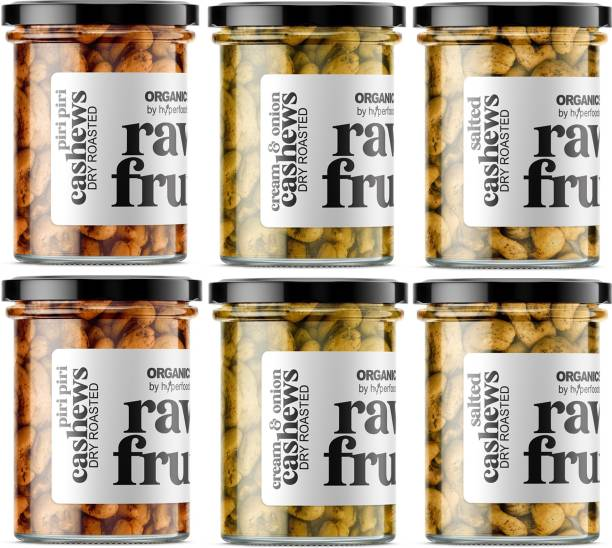 HyperFoods CLASSIC SALTED Roasted cashew & CREAM & ONION Roasted cashew & PIRI PIRI Roasted Cashews
