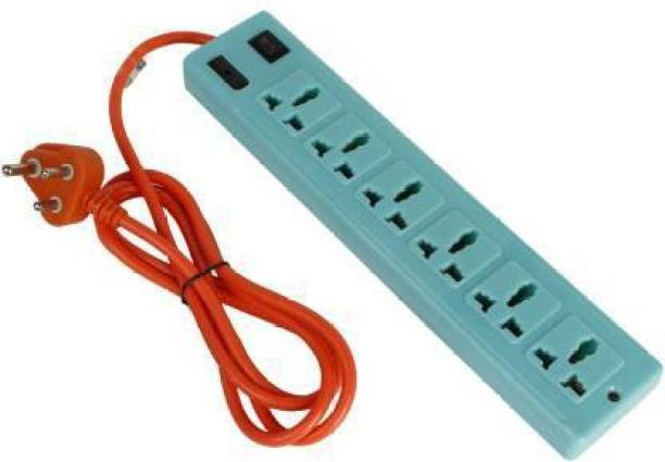 Skeisy 6+1 HIGHLY DURABLE EXTENSION BOARD WITH CAPACITY UP TO 6AMP 6  Socket Extension Boards
