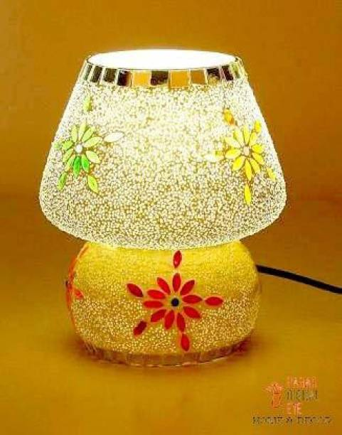 RISHABH ENTERPRISES Glass Purse Shape Table Lamp Vintage Night Lamp, Side Lamps Light Decoration for Home ,Living Room, Bedroom Bedside, Mandir , Hall   Made in India Products Table Lamp