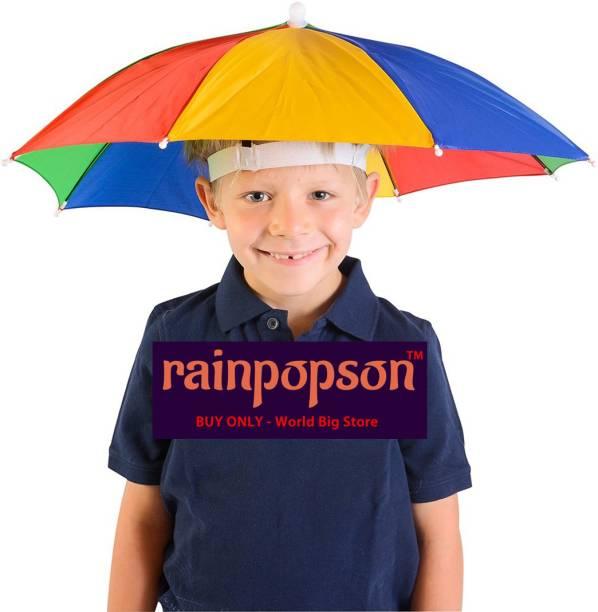 Rainpopson Hat Umbrella for Kids Girls & Boys Cap Umbrella Umbrella