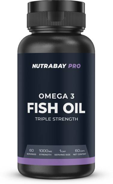 Nutrabay Pro Fish Oil (Triple Strength) - 1000mg, 60 Capsules