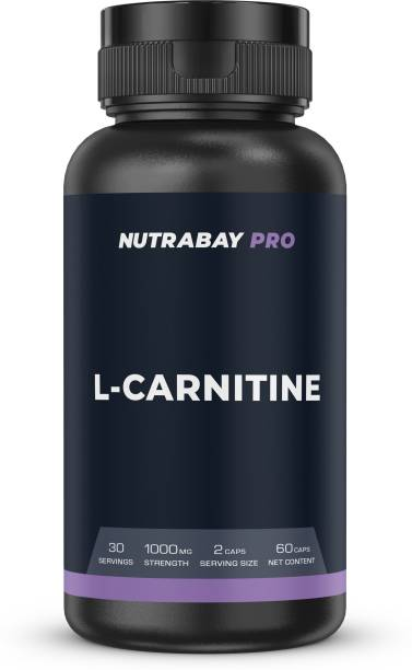 Nutrabay Pro L-Carnitine - 1000mg, 60 Capsules