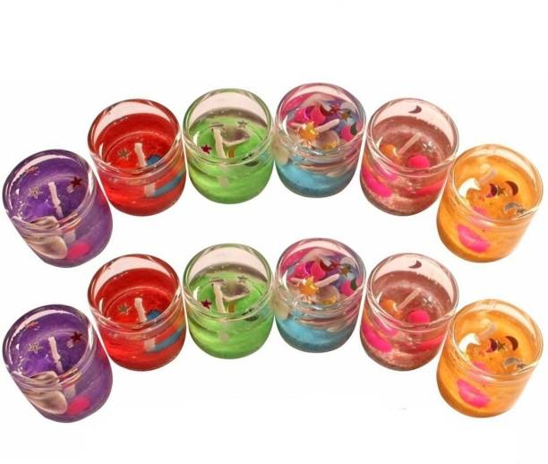 MERSK Gel Pencil Candle (pack of 12) Candle