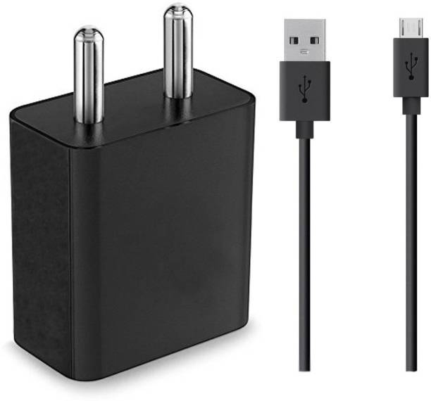 Datalact 2Amp Black Charger with Micro USB Data Cable for Xiaomi Mi Models 2 A Mobile Charger with Detachable Cable