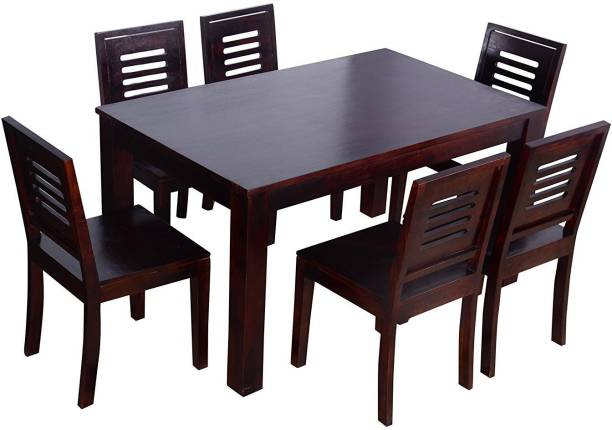 Suncrown Furniture Sheesham Wood Solid Wood 6 Seater Dining Set