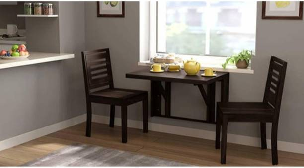 Suncrown Furniture Sheesham Wood Dining Table Set for Living Room Solid Wood 2 Seater Dining Set