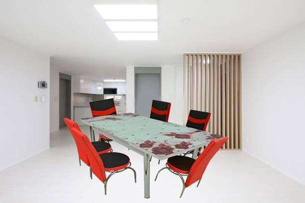LOYAL FURNITURE BROWNY-103 Engineered Wood 6 Seater Dining Set