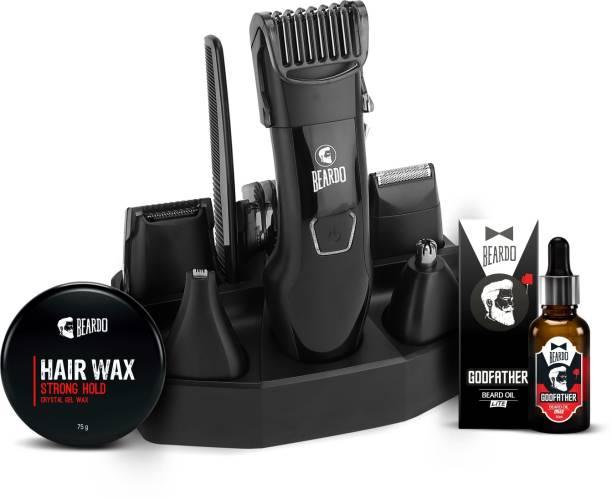 BEARDO Combo Kit with Hair Wax, Oil  Runtime: 60 min Trimmer for Men