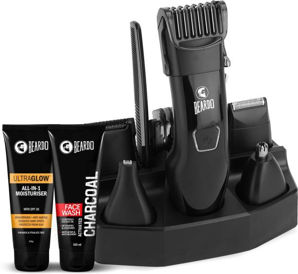 BEARDO Combo Kit with Facewash, After Lotion  Runtime: 60 min Trimmer for Men