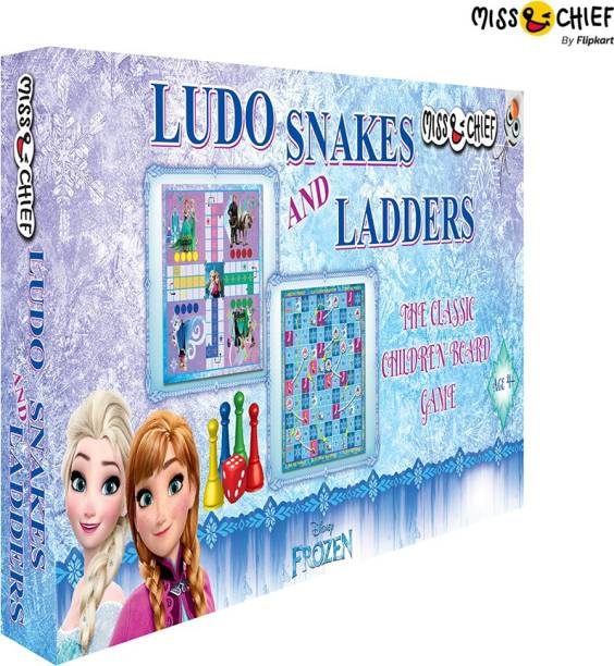 Miss & Chief Frozen Ludo+Snakes & Ladders Party & Fun Games Board Game
