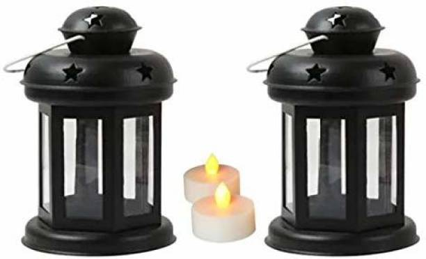 Coudre Starry 2 Tea Lights Included Stainless Steel 2 - Cup Tealight Holder