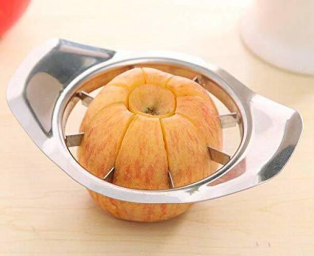 Craftbin Stainless Steel Apple Cutter, Slicer, Dicer (SS, Silver), Round Fruit Slicer