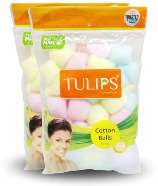 Tulips Color Premium Cotton Pad Balls For Removing Nail Polish, Make Up, Applying Powder, Bronzer and Blush