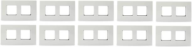 Schneider Electric Opale-4 Module Grid and Cover Plate(Pack of 10) Wall Plate