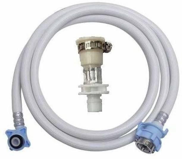 YUchoice 4 Meter Flexible PVC Washing Machine Water Inlet/INFLOW Hose Pipe with 2 Type tap Adapter Washing Machine Inlet Hose